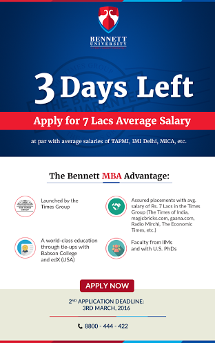 Bennett University MBA Admission Outreach Emailer