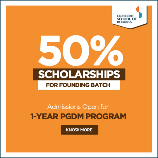 Scholarship on offer, Crescent School of Business